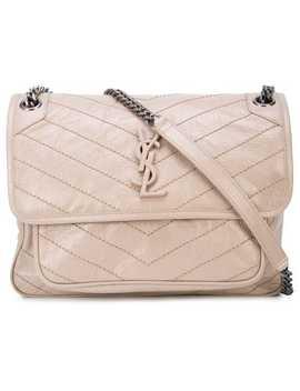 Crinkled Leather Niki Shoulder Bag by Saint Laurent