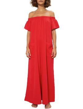 Blanche Off The Shoulder Organic Cotton Cover Up Jumpsuit by Mara Hoffman