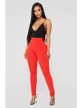 Compress My Feelings Bandage Pants   Orange by Fashion Nova