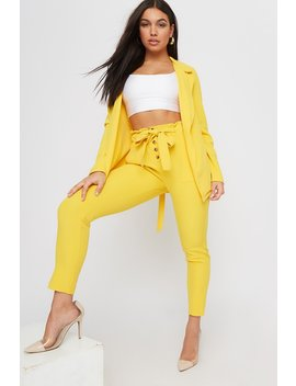 High Rise Button Up Paperbag Pant by Urban Planet