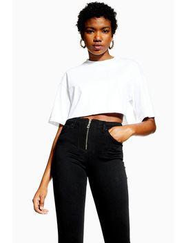 Black Exposed Zip Jamie Jeans by Topshop