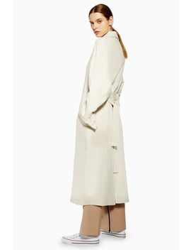 **Slim Longline Duster Coat With Linen By Boutique by Topshop