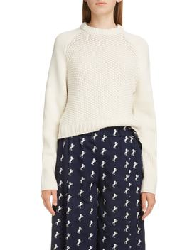 Mixed Knit Wool & Cashmere Blend Sweater by ChloÉ