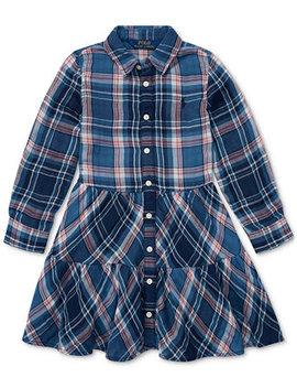 Toddler Girls Western Plaid Cotton Shirtdress by Polo Ralph Lauren