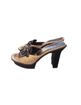 """<Span Data Inner Title="""""""">Prada S/S 1999 Wooden Oxford Platform Lin And Vinyl Leather Heels</Span> by Etsy"""
