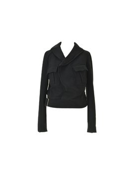 Comme Des Garcons Black Knitted Army Belted Jacket by Etsy