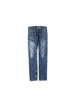 Christian Dior Blue Painted Distressed Jeans by Etsy