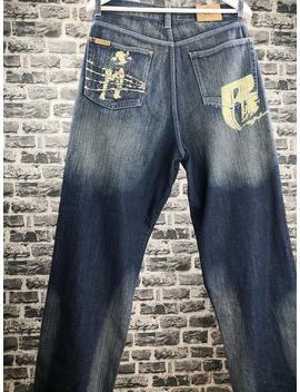 "<Span Data Inner Title="""">Ruff Ryders Vintage Dmx Pitbull Motiv Hip Hop Baggy Jeans 90s Gangsta Rap / Kani Old School Clothing Wu Tang / Wu Wear</Span> by Etsy"