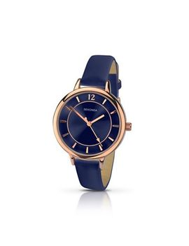 Sekonda   Ladies Navy Dial Rose Gold Watch 2136.28 by Sekonda