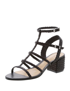 Braided Leather Caged Sandals by Schutz