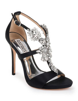 Leah Embellished T Strap Sandals by Badgley Mischka