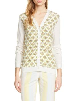 Silk Front Cardigan by Tory Burch