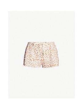Leopard Print Cotton Pyjama Shorts by Love Stories