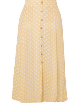Marin Polka Dot Crepe Midi Skirt by Faithfull The Brand
