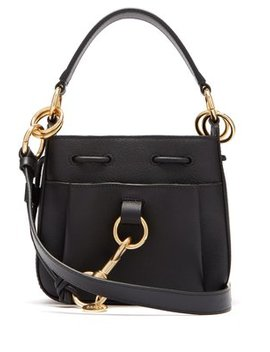 Tony Small Leather Bucket Bag by See By Chloé
