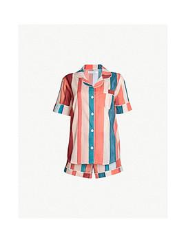 Medina Striped Cotton Voile Pyjama Set by Desmond And Dempsey