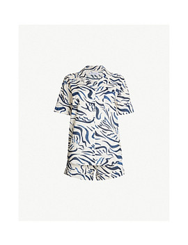The Expressionist Bird Print Cotton Pyjama Set by Desmond And Dempsey