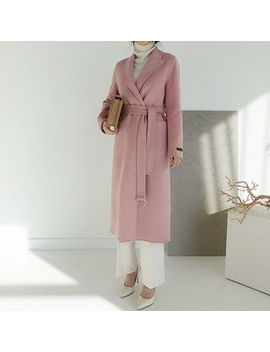Naning9   Handmade Wool Blend Belted Coat & Vest Liner by Naning9