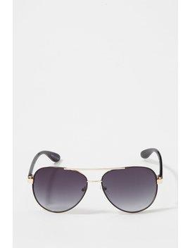 Two Tone Aviator Sunglasses by Urban Planet