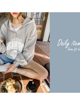 Naning9   Letter Print Anorak Hoodie by Naning9