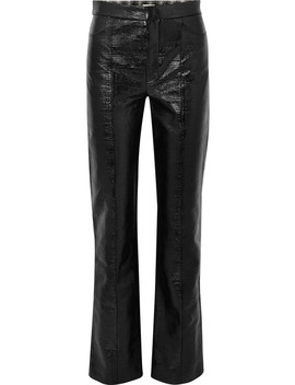 Olbia Coated Cotton Blend Straight Leg Pants by Totême
