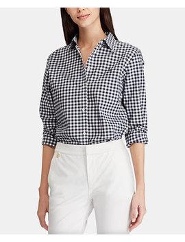 Button Down Non Iron ¾ Sleeve Shirt by Lauren Ralph Lauren
