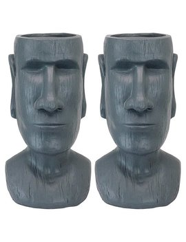Design Toscano Easter Island Massive Megalith Moai Head Planter Statue: Set Of Two by Generic