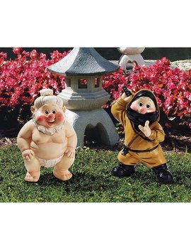 Design Toscano Far East Garden Fighters Gnome Statue Set: Sumo & Ninja by Generic