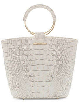 Mod Bowie Pearl Melbourne Embossed Leather Satchel by Brahmin