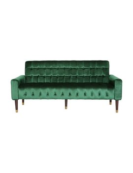 Hertford Tufted Velvet Sofa With Gold Tipped Tapered Legs By Christopher Knight Home by Christopher Knight Home