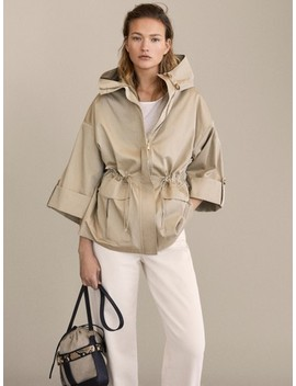 Cotton Hooded Parka by Massimo Dutti