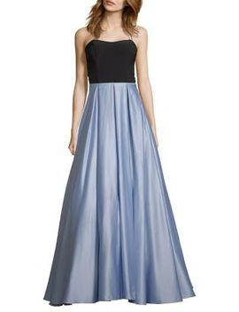 Sweetheart Strapless Satin Gown by Blondie Nites