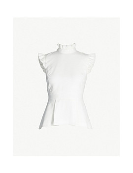 Bubbl Ruffle Detail Piqué Top by Ted Baker
