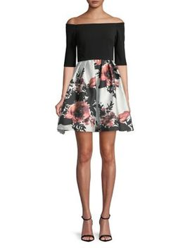 Floral Print Fit & Flare Dress by Betsy & Adam