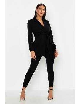Tie Front Duster Jacket by Boohoo