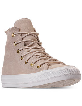Women's Chuck Taylor All Star High Top Frilly Thrills Casual Sneakers From Finish Line by Converse