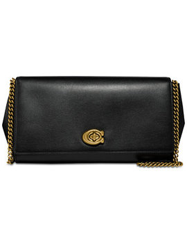 Alexa Turnlock Clutch In Smooth Leather by Coach