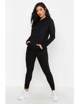 Oversized Zip Through Heavy Weight Tracksuit by Boohoo