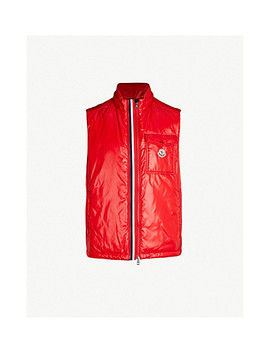 High Shine Laqué Down Hooded Gilet by Moncler