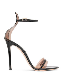 105 Patent Leather And Pvc Sandals by Gianvito Rossi