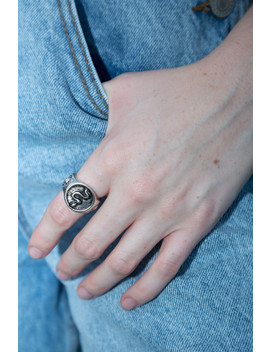 Thick Silver Snake Ring by Brandy Melville