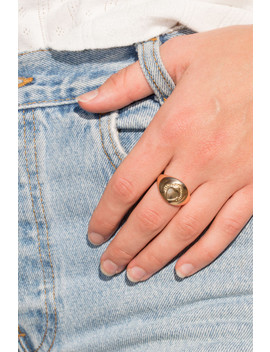 Thick Gold Heart Ring by Brandy Melville
