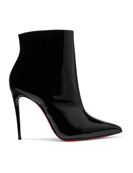 So Kate Booty 100 Patent Leather Ankle Boots by Christian Louboutin