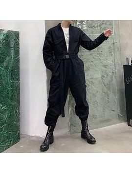 Bjorn   Pocket Detail Long Sleeve Jumpsuit by Bjorn