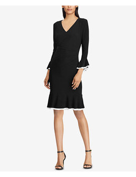 Contrast Ruched Dress by Lauren Ralph Lauren