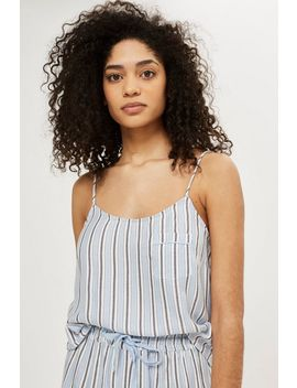 Brushed Stripe Camisole Top by Topshop
