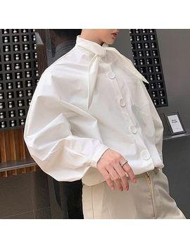 Bjorn   Tie Neck Shirt by Bjorn
