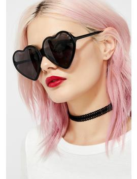 Dark Love Visionz Heart Sunglasses by