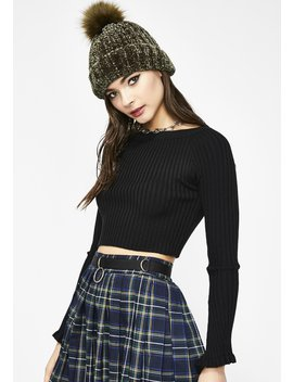 Love Lucidity Cropped Sweater by