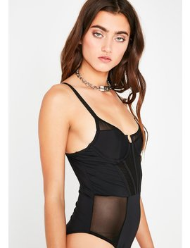 Through The Wire Sheer Bodysuit by